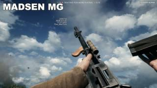 Battlefield 1 Closed-Alpha All Weapons In Slow Motion [ 2K 60 FPS DX12 MAX DETAILS]