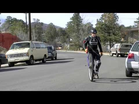 Darth Nerd on 36er Unicycle with Schlumpf 2 speed hub