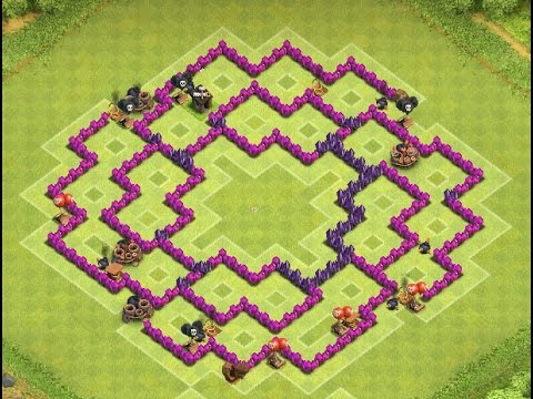 Clash of clans th9 new townhall 9 farming base 4 mortars no xbows