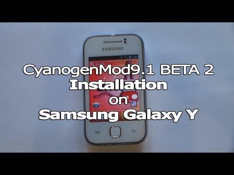 Installing CM9. 1 BETA 2 on Galaxy Y