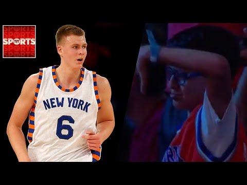 Kristaps Porzingis Gets Revenge On Knicks Fan Who Cried When He Was Drafted