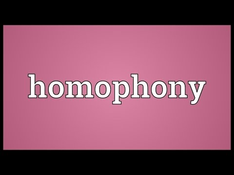 Header of Homophony
