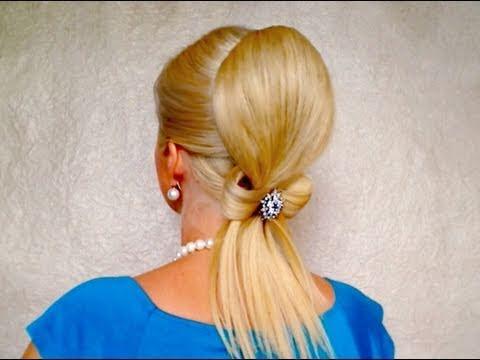 Hair bow wedding updo tutorial Свадебная прическа на длинные волосы