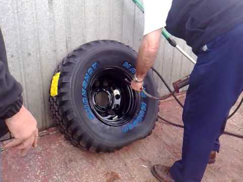 How not to inflate a tyre!