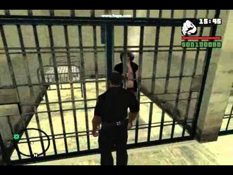 CJ trabajando como policia Grand Therft Auto San Andreas