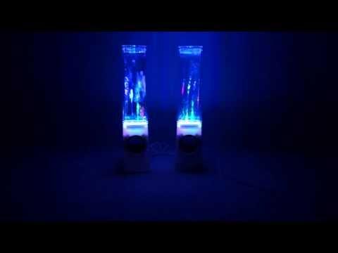 White USB LED Light Dancing Water Show Speaker Music for PC Laptop! Krewlla-Alive