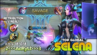 Selena Virus Perfect Savage! AdRyLl Top Global Selena ~ Mobile Legends