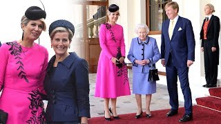 Maxima's ULTIMATE day out! The Queen bids farewell to The King & Queen of the Netherlands
