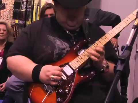 Johnny Hiland more Chicken Pickin' at the Gig-FX Booth NAMM