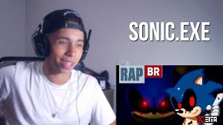 "REACT 🔴 RAP DO SONIC.EXE ""I AM GOD"" 