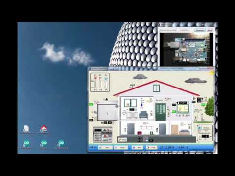 """Virtuelles Anlagenmodell """"Smart Home"""" für den Arduino"""
