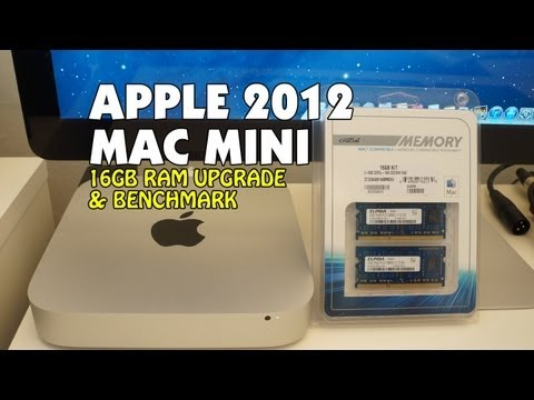 Apple Mac Mini Late 2012 Core i7 2.6GHz 16GB RAM Upgrade & Benchmark