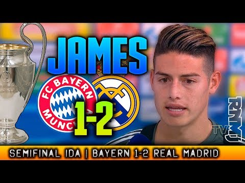 JAMES RODRIGUEZ entrevista Bayern 1-2 Real Madrid Champions League 2018 thumbnail