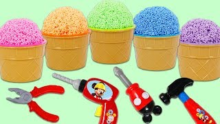 Opening Paw Patrol Play Foam Surprise Cups with Disney Mickey Mouse Pretend Tools!