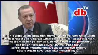Erdogan Semprot Kanselir Jerman Merkel Sebut Teroris itu Islam