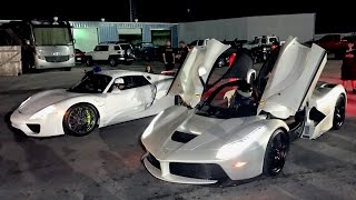 $3,000,000 DRAG RACE - LaFerrari vs Porsche 918!