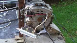 Alternator DEMO Wiring, connection to Battery, Capacitors, Inverter, Modification
