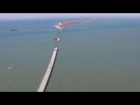 Крым и Кубань скоро соединит первый временный мост