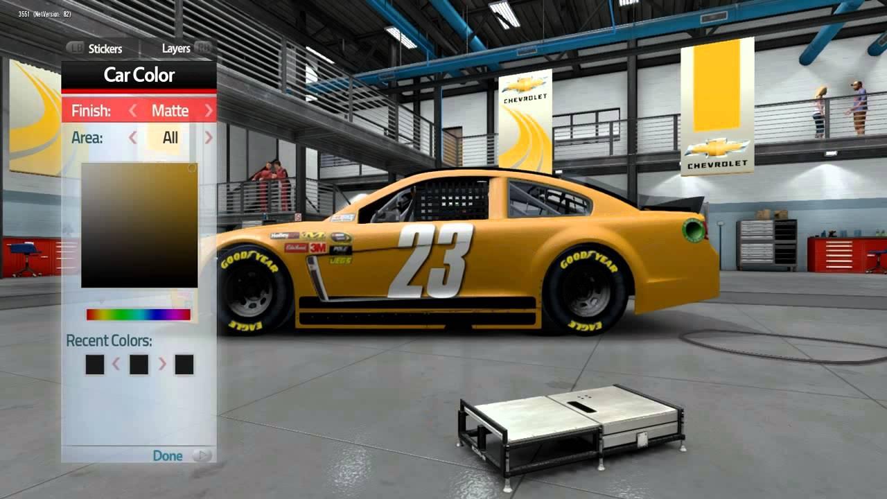 Nascar 14 Paint Booth NASCAR  14 Game Custom Paint