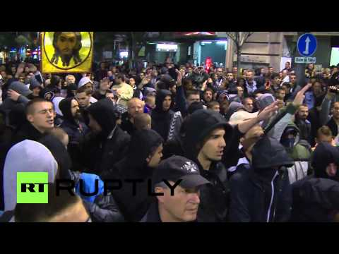 Serbia: Thousands rally against gay pride march in Belgrade