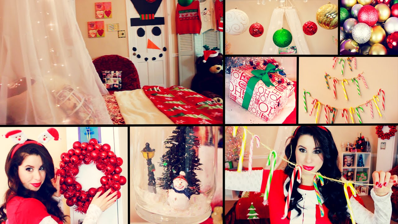 Diy cute christmas room decor and organization easy for Room decor for christmas
