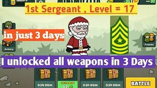 Push you're rank in just 3 days \ Level 0 to Level 17 \ 1st sergeant in mini militia \ Div Tech