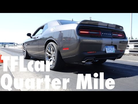 Watch the 2015 Dodge Challenger Hellcat run the Quarter Mile over & ov
