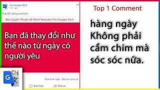 Top Comment P17: bạn đã thay đổi gì từ ngày có người yêu - Chị Google Dịch