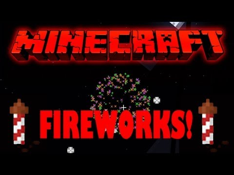 Minecraft How to Craft Fireworks - Minecraft 1.8