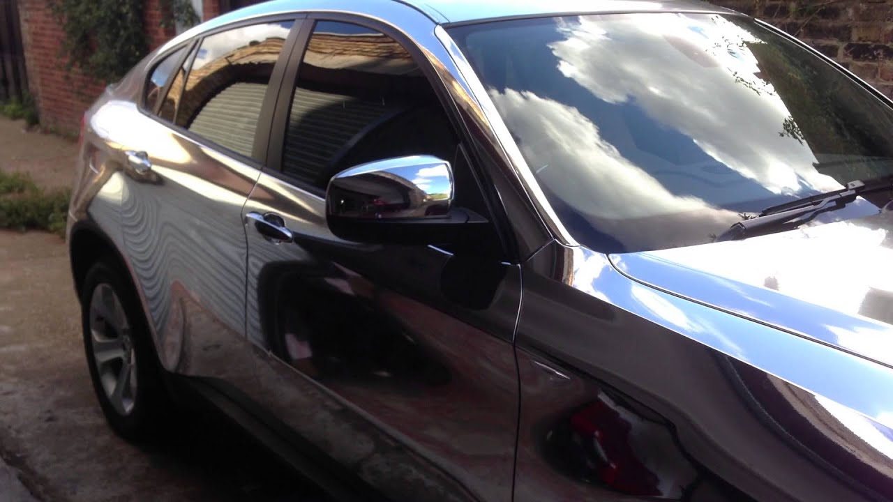 Bmw X6 Chrome Mirror Wrap By Wrapping Cars London Youtube