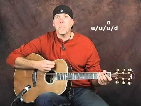 Acoustic guitar beginner lesson easy songs learn strum patterns strumming rhythm