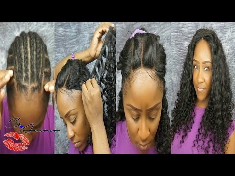 3 Part Lace Closure Full Sew In Tutorial   No Hair Out   ft Mayvenn Hair