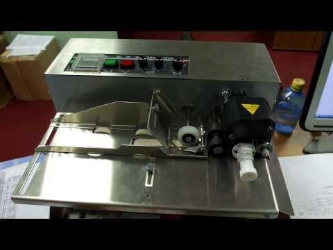 Роликовый маркератор пакетов DK 300, Термодатер для готовых пакетов