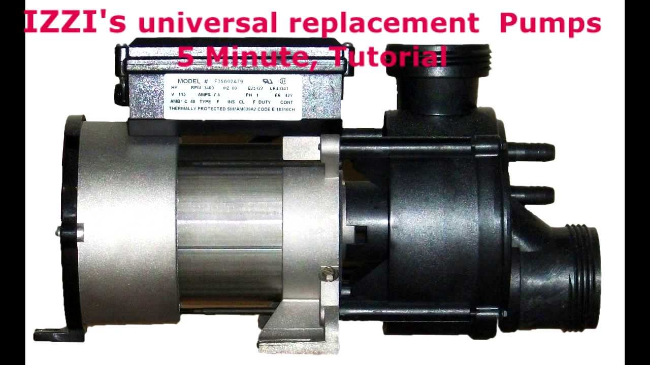 Whirlpool tub pump replacement youtube for Jacuzzi tub pump motor