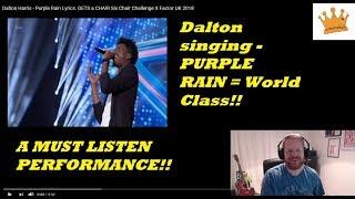 Dalton Harris sings Purple Rain | 6 Chair Challenge | The X Factor UK 2018 | PW Reaction