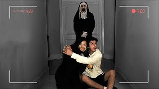 I feel really bad for doing this to her... (THE SCARY NUN)