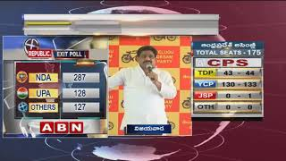 TDP MLC Buddha Venkanna Press Meet On AP Elections 2019 Exit Polls