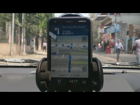 Nokia Drive Maps GPS Offline Car Navigation using Lumia 620
