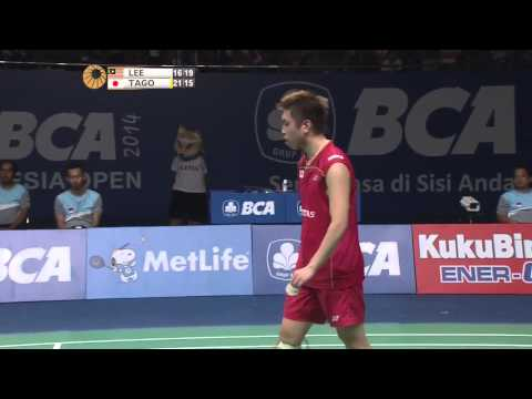2014 BCA INDONESIA OPEN - SF - MS - Lee Chong Wei [1] (MAS) VS Kenichi Tago [4] (JPN)