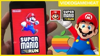 SUPER MARIO RUN World 1-1, 1-2, 1-3, 1-4 Full Apple Store IOS Demo | First Look Review