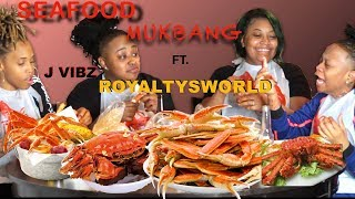 MUKBANG SEAFOOD BOIL | KING CRAB LEGS, SHRIMP, AND LOBSTER TAIL FT. ROYALTYSWORLD