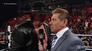 RAW RESULTS: The Undertaker Returns To RAW To Address His WrestleMania Match
