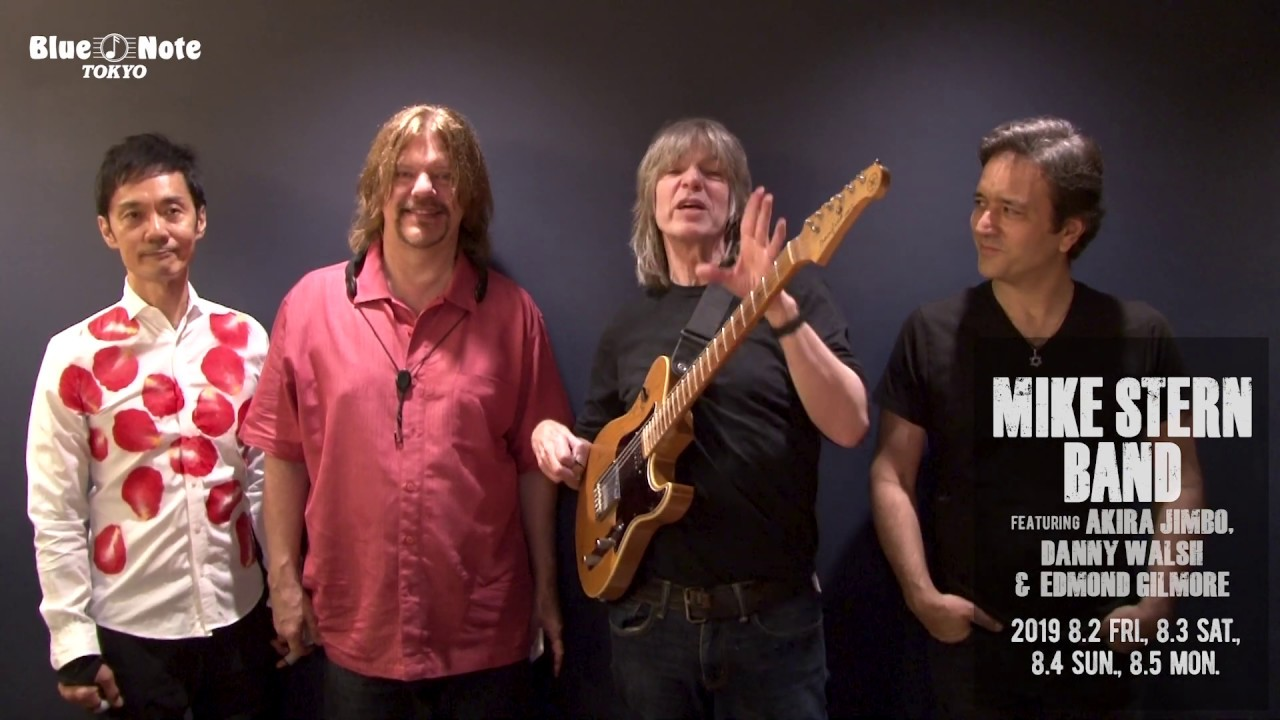 Mike Stern Band - 2019.08.02 BLUE NOTE TOKYOでのライブ・ダイジェスト、コメント映像を公開 (feat. 神保彰, Danny Walsh, Edmond Gilmore) thm Music info Clip