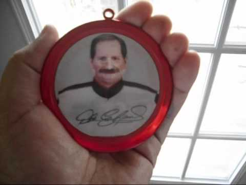 Nascar Dale Earnhardt Magic Motion Coca-Cola Christmas Ornament