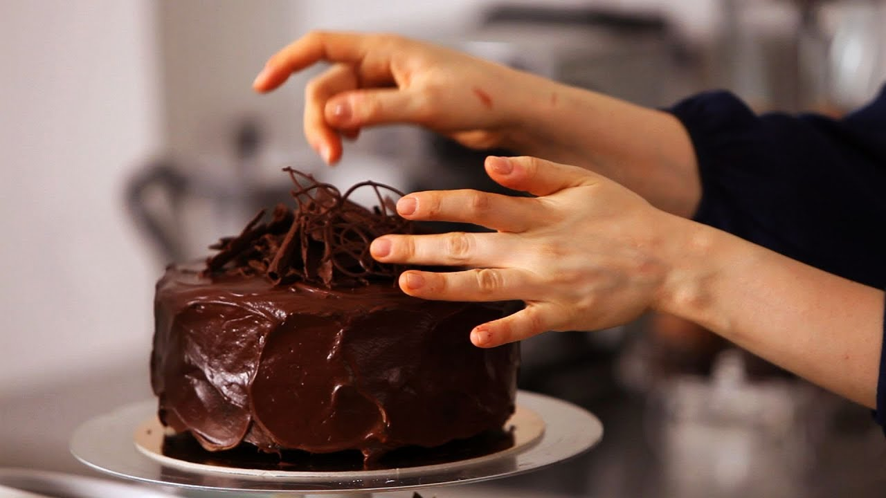 Chocolate Ganache Cake Covered With Fondant