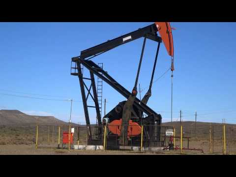 Oil drilling rig in Patagonia Argentina