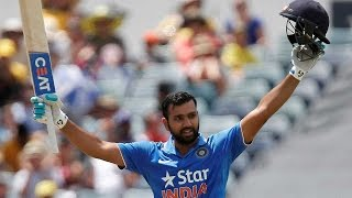 Rohit Sharma 124 runs off 125 balls, 5th century against Australia