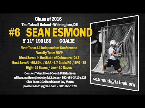Sean Esmond - Goalie, The Tatnall School - Wilmington, DE - Sophomore highlights