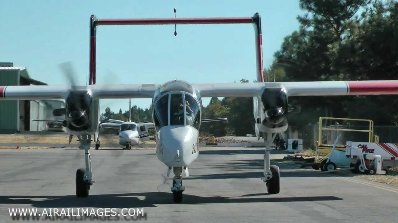 Air Attack Plane Ov-10 Air Attack Firefighter
