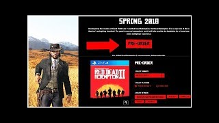 Red Dead Redemption 2 Pre-Order Bonuses Confirmed For PS4 And Xbox One